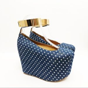 Jeffrey Campbell Point-MC in Blue & White Star